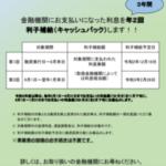 【コロナ融資の利子補給が開始されます!!】